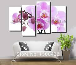 hand painted modern purple orchid wall art canvas flowers oil painting 4 piece abstract home decor living room picture set in painting calligraphy from  on purple orchid wall art with hand painted modern purple orchid wall art canvas flowers oil