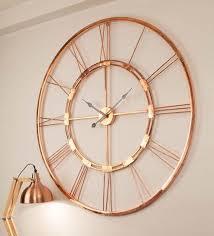 copper finish metal 30 inch wall clock