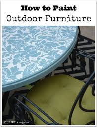 painted furniture blogsto Paint Outdoor Furniture  Thrift Diving Blog