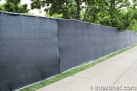 commercial chain link fence with screen privacy a66