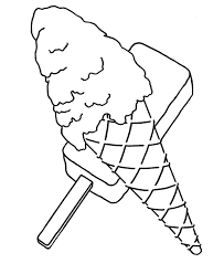 waffle cone coloring page.  Page Ice Cream Cone Coloring Page To Waffle O