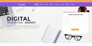 Free Website Templates Html Delectable Digital Marketing Website Template Free Holdingfidens