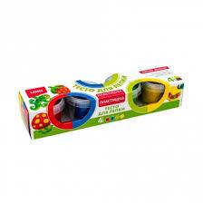 """<b>Тесто для лепки</b> """"Пластишка"""", Lori, 4 цвета, 4х80 г, в ассортименте"""