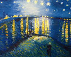 andrea realpe my version of starry night over the rhone by vincent van gogh