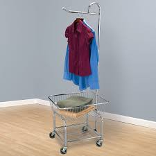 Laundry Hanging Bar Amazoncom Household Essentials 6028 1 Rolling Laundry Cart With