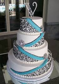 black and white and blue wedding cakes. Absolutely Love This Make The Blue Turquoise And Take Flowers Off Omg Maybe Even Black White Yah In Wedding Cakes