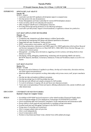 Sap Abap Resume Samples Velvet Jobs