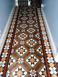 victorian tiled floor chippenham after cleaning and sealing