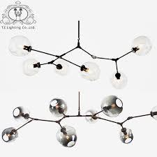 lunicoo modern light society chandelier for livingroom glass shade painted gold black fixtures suspension thurston light sputnik
