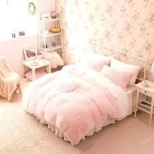 cotton bedding set light pink with white striped duvet doona