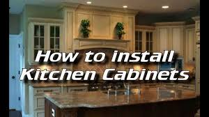 Diy Install Kitchen Cabinets How To Install Kitchen Cabinets Installing Kitchen Cabinets
