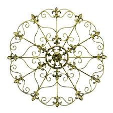 metal fleur de lis wall decor round medallion art 3d living hobby lobby