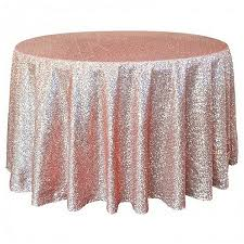 120 inch rose gold sequin tablecloth