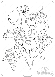 Thank you for supporting my business! Disney The Incredibles Family Coloring Pages