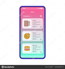 restaurant menu design app food delivery app smartphone interface vector template