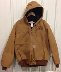 Carhartt Quilted Flannel Lined Duck Active Jacket J140 Size Mens M ... & Carhartt Quilted Flannel Lined Duck Active Jacket J140 Size Mens M Brown  Coat Adamdwight.com