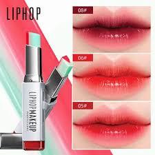 liphop brand lip gloss lipstick makeup 8 color grant color korean style two color tint lip
