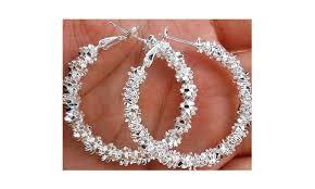 whole women jewelry 925 sterling silver stars hoop earring sterling silver