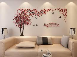 wall murals for living room. Amazon.com: 3d Couple Tree Wall Murals For Living Room Bedroom Sofa Backdrop Tv Background, Originality Stickers Gift, DIY Decal Home Decor Art G