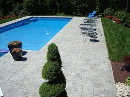 stamped concrete pool patio. 21: Rockleigh, NJ Stamped Concrete Pool Patio