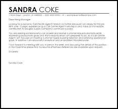 Call Center Cover Letter Example Call Centre Agent Cover Letter Sample Cover Letter