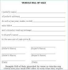 Free Sample Of Bill Of Sale Free Auto Bill Of Sale Template Generic Vehicle Motor Glotro Co