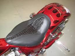 bike seat leather and real crocodile custom chopper seat