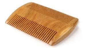 zeus organic sandalwood double sided beard comb