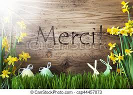Thank You Easter Sunny Easter Decoration Gras Merci Means Thank You