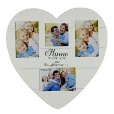 home love laughter heart shaped collage multi aperture photo frame gifts