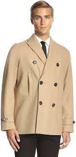 dsquared2 double ted peacoat