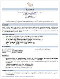 B Com Resume Format Download