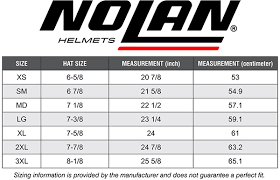 Nolan N104 Size Chart Nolan N44 Size Chart Best Picture Of Chart Anyimage Org