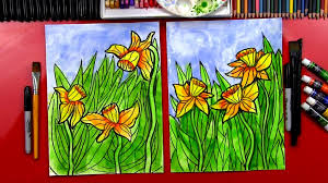 pictures to paint for kids. Contemporary Paint How To Paint Daffodils With Watercolor Pictures For Kids E
