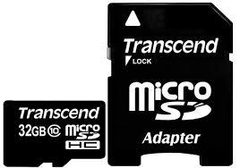 <b>Карта памяти</b> Transcend microSDHC <b>32GB</b> Class 10 (20/10/Mb/s ...
