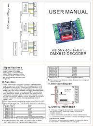 dmx decoder wiring diagram 6 pin wiring diagram libraries dmx decoder wiring diagram 6 pin wiring diagramsdmx 512 decoder 6 channel 4a ch controller stage