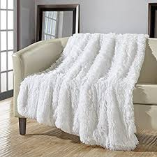 white throw blanket. Modren Blanket Chic Home 1 Piece Anchorage Shaggy Faux Fur Supersoft Ultra Plush  Decorative Throw Blanket 50 X With White O