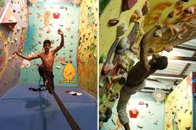 gyms on artificial rock climbing wall in pune with rock aliens gym pune s biggest bouldering gym lbb