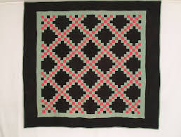 Antique Amish Quilts & Antique Mennonite Quilts For Sale & CON TC4 Amish Double Irish Chain Adamdwight.com