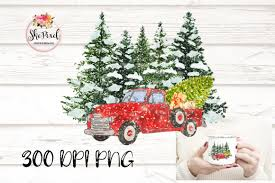 Christmas tree on old truck outside route 66 delgadillo`s snow cap restaurant in seligman, arizona usa. Vintage Christmas Truck Tree Clipart Graphic By Funfair Designs Creative Fabrica
