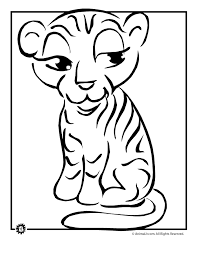 Small Picture Tiger Cub Coloring Page Woo Jr Kids Activities