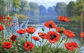 peter ellenshaw monet s pond early morning