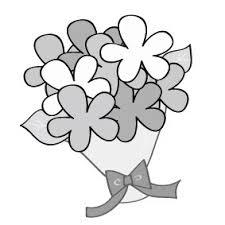 画像 1723 花のかわいい無料イラスト集白黒カラー Web素材
