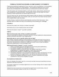 Resume Examples Accomplishment Statements Fresh Action Verbs For
