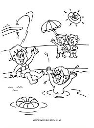 Kleurplaat Zwembad Tropicalweather
