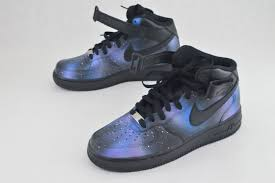 Galaxy Design Shoes These Nike Af1 Mids Have The Galaxy Design This Order Is