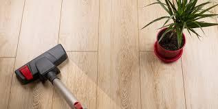 Vacuum Cleans Laminate Floor