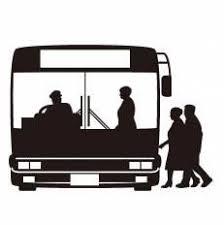 路線バスシルエット イラストの無料ダウンロードサイトシルエットac