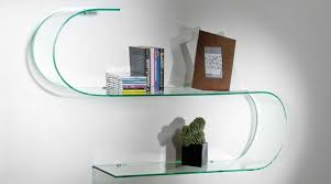 Highly Adaptable Tempered Curved Glass Shelves , Store
