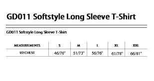 Details About Gd011 Gildan Softstyle Long Sleeve Mens Womens T Shirt Plain Top Casual T Shirt
